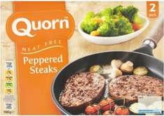 Quorn Meat Free Peppered Steaks (2 per pack - 196g) was £2.50 now £1.00 (Rollback Deal) @ Asda
