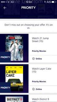 Free movie rental with O2 Priority