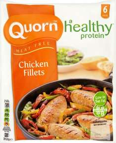 Quorn Meat Free Chicken Style Fillets (Gluten Free) (6 per pack - 312g) was £1.97 now £1.00 @ Morrisons