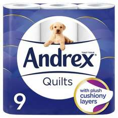 Andrex Quilt 1 pack of 9 for £5, 2 packs of 9 for £7.50 and 3 pack of 9 for £10 @ Tesco