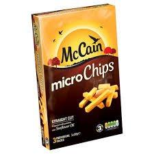 McCain Straight Cut Micro Chips 6x100g £2 @ asda
