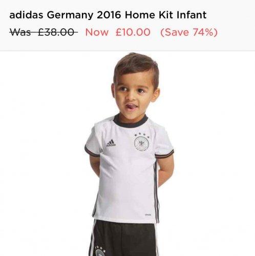 Infant Germany kit £10 @ JD Sports