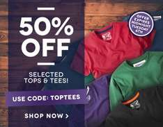 50% off Selected Tops & Tees @ CWClothes