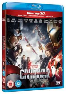 Captain America Civil War 3D Blu-Ray £16.14 with code at Zoom