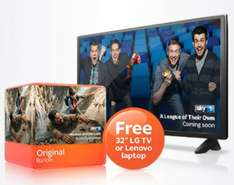 "NEW CUSTOMERS - Sky TV £20PM with £106 TCB and 32"" tv, laptop or £100 amazon voucher"