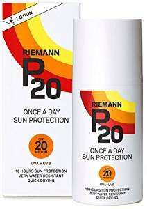Riemann P20 Once a Day 10 Hours Protection SPF20 Sunscreen 200ml £11  (Prime) / £14.99 (non Prime) @ Amazon