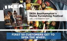 Ikea Southampton FREE Breakfast and FREE £5 Voucher 10/11th Sept
