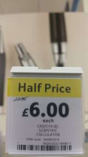 Casio FX85 Scientific Calculator now £6 (was £12) @ Tesco
