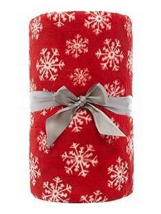 Linea Snowflake Red Fleece@ HofF reduced from £30 to £9