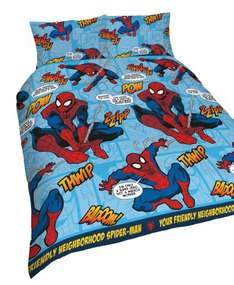 Spiderman Marvel single duvet set reduced from 14.99 to 7.99 but scaned 4.80 @ Mothercare