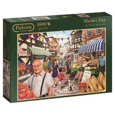 Jumbo Falcon de Luxe Market Day Jigsaw Puzzle (1000-Piece) £1.90 Add-on item at Amazon