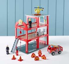Wooden Fire Station & Accessories (was £35) Now £20 C&C at Asda George