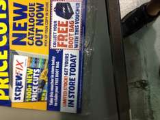 Free bootbag instore at screwfix with magazine voucher