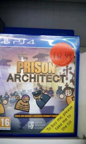 Prison Architect PS4 £12.99 Sainsbury's