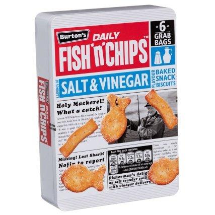 Burton's Fish 'n' Chips Salt & Vinegar Biscuits (6pk = 240g) was £1.00 now 50p @ B&M
