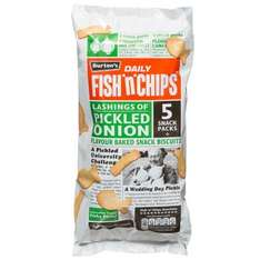 Burtons Daily Fish 'n' Chips Pickled Onion 5 Snack Packs was 69p now 49p @ B&M