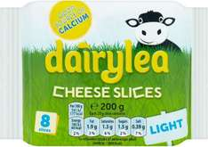 Dairylea Thick Cheese Slices & Dairylea Light Thick Cheese Slices (8 per pack - 200g) was £1.50 now £1.00 @ Sainsbury's