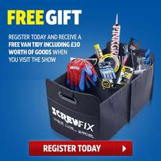 Screwfix Live - free event in Farnborough 30th Sept - 2nd October