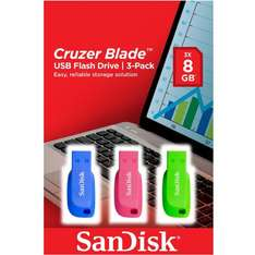 Sandisk 8GB Triple Pack at Boots for £7.49 (Click & Collect)