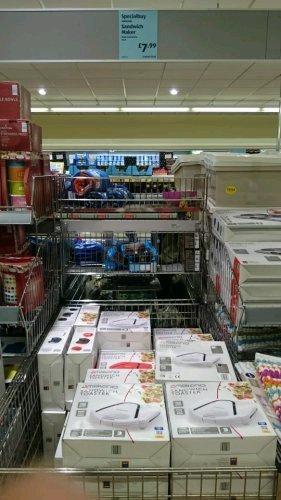 Ambiano Sandwich Toaster wth 3yr warranty £7.99 @ Aldi