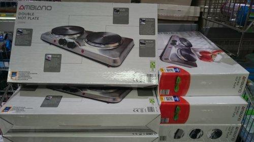 Ambiano 2500w Double electric hotplate £19.99 @ Aldi