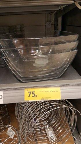 Large glass serving bowl just 75p @ Morrisons
