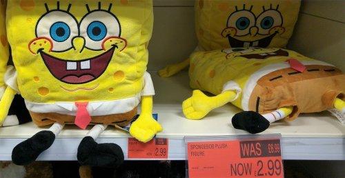 SpongeBob big Plush toy £2.99 @ B&M (INSTORE ONLY). this is 7.99 in argos on half-price sale