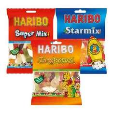 Haribo Starmix, Tangfastics, and Super Mix 60p (160g) at Spar
