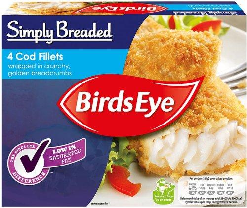 Birds Eye Large Cod (54%) Fillets coated in Breadcrumbs (4 = 480g) was £4.00 now £2.00 @ Waitrose