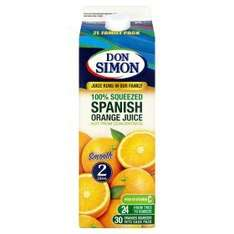 Don Simon 2L Fruit Juice Not From Concentrate - 2 for £4 @ Asda