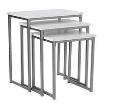 """Retro Nest of 3 Tables - White/Metal - """"less than half price"""" £21.99 w/free C&C @ Argos"""