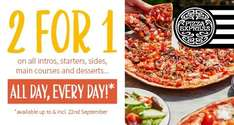 2 for 1 at Pizza Express EVERY day for Tastecard holders