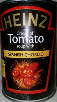 Heinz Cream of Tomato Soup with Chorizo 29p at B&M