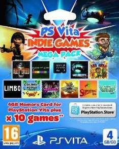 Sony PlayStation Vita Indie Games Mega Pack Voucher Plus 4GB memory Card £14.99 (Prime) £16.98 (Non-prime) Delivered @ Amazon