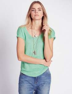 INDIGO COLLECTION Linen V-Neck Top £1.49 @ M&S