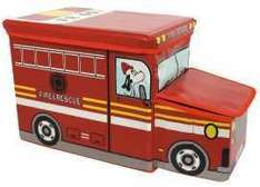 Fire Engine Storage Stool now £9.95 + £2.95 del (free del. over £25) at The Book People