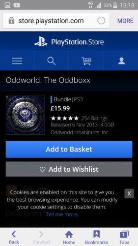 ODDWORLD -  THE ODDBOX £15.99 PSN