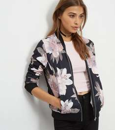 Black Oversized Floral Print Bomber Jacket was £24.99 + Del now £13.99 inc Next Day Delivery in upto 60% off Sale @ New Look (£1.99 NDD Today Only + 25% Off Denim with code)