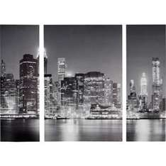 New York At Night Triptych Canvas - Set of 3 was £39.99 now £9.99 C+C @ Argos (+ lots more on offer - see comments)