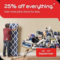 Dulux Decorator Centre 25% off everything* from 12th-17th September