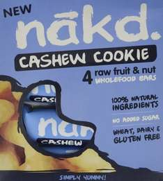 4 Nakd Bars Cashew Cookie 35 g (Pack of 3) £1.78 AMAZON (AddonItem)