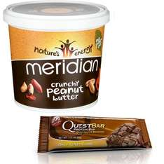 2KG Meridian Peanut butter £8.08 / Choc Brownie Quest bars (Short date) 12 for £11.99 - Using BOGOHP offer + Extra 10% code @ Holland and Barrett (Free C&C)