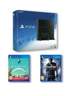 PS4 + No Man's Sky + Uncharted 4 £210! w/ new cust code @ Very
