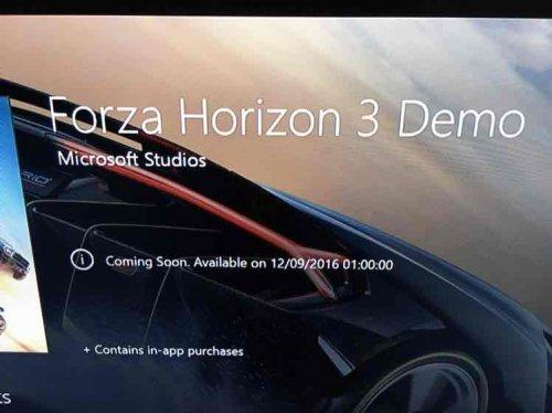 Forza Horizon 3 Demo - Xbox one
