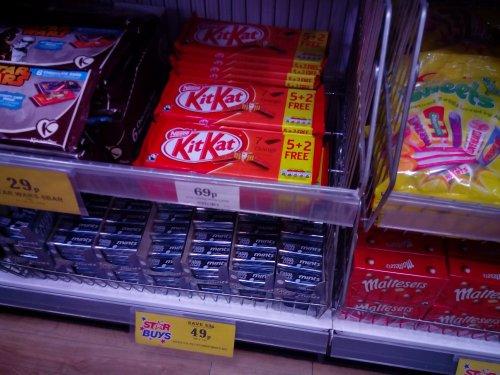 KitKat orange 7 pack for 69p in Belle Vale Home Bargains.