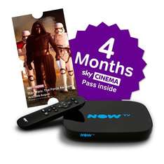 LOWEST EVER (on Amazon) - NOW TV Smart Box 4 Month Movie or 5 Month Entertainment £35