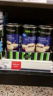 ASDA Creamed Rice Pudding 624g serves 4 reduced to 18p from 50p