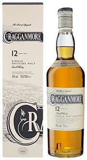 Cragganmore 12 Year Old Single Malt Speyside Whisky (70 cl) £25.99 delivered @ Amazon
