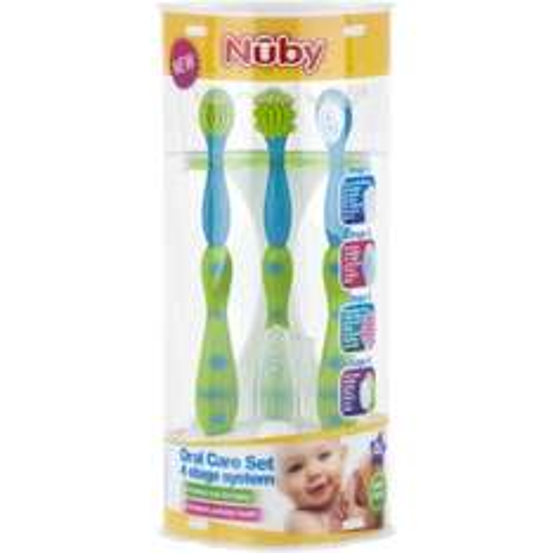 Nuby Oral Care Set 4 Stage System 0m+ £2 Morrisons Instore