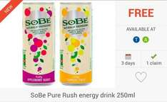 FREEBIE... 3 x SoBe Pure Energy Rush Drink (250ml) via Checkoutsmart, Clicksnap & Topcashback Apps - £1.25 @ Tesco; £1.49 @ Asda...
